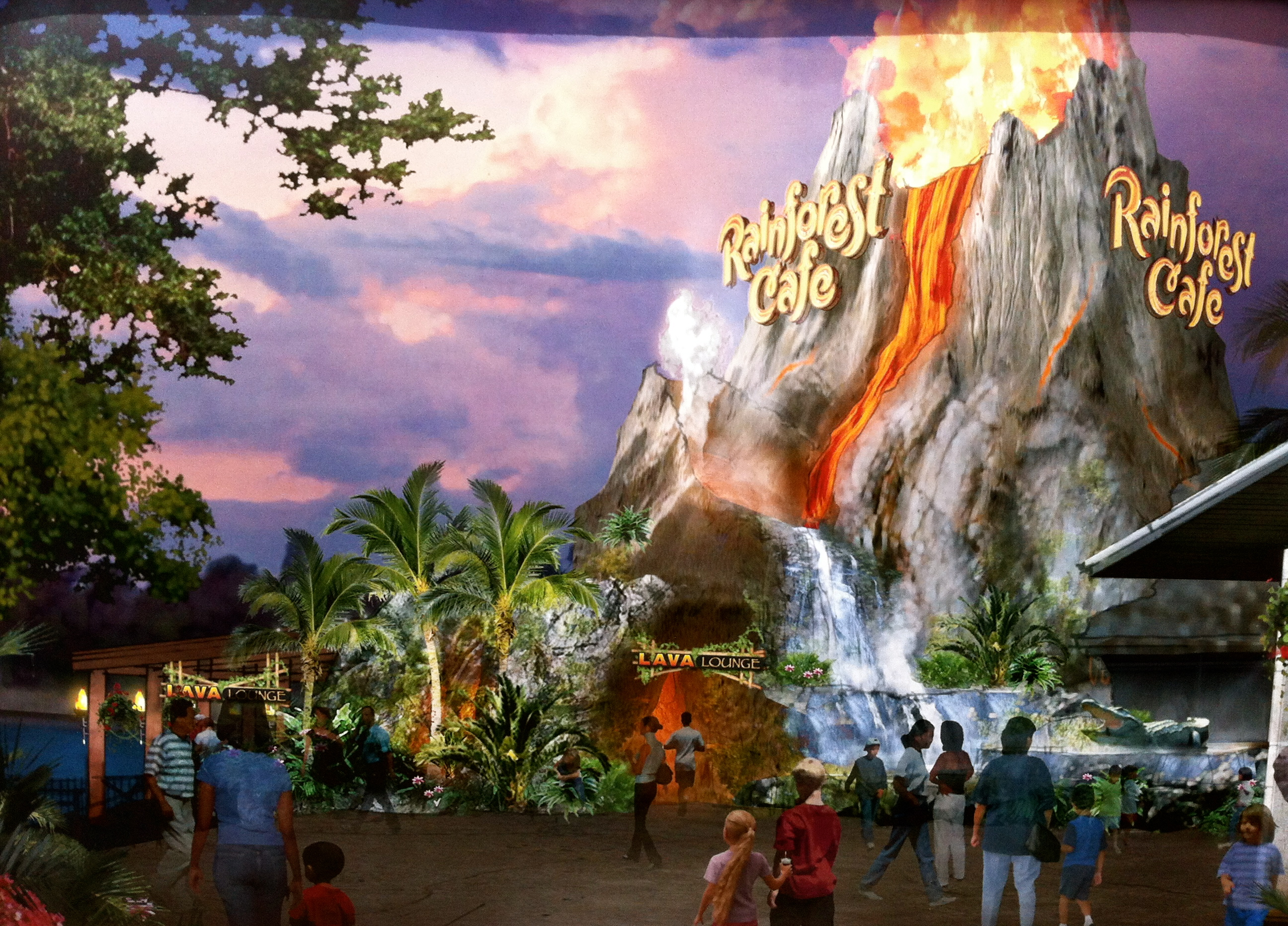 Which Rainforest Cafe Is Better Downtown Disney Or Animal Kingdom